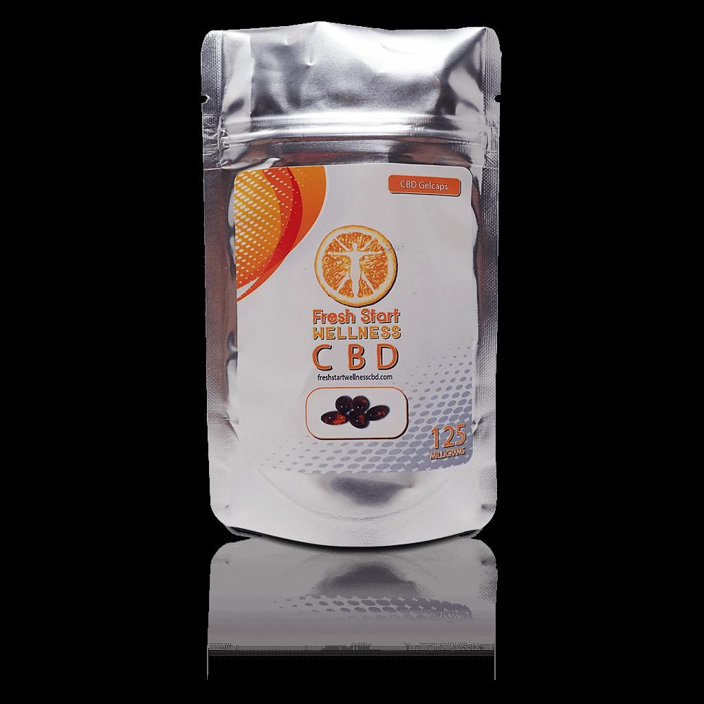CBD Gelcaps - Industrial Hemp - Fresh Start Wellness CBD